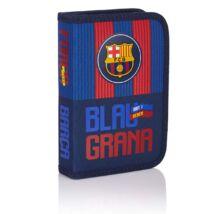 FC Barcelona egy részes tolltartó, íróeszközökkel, 20 x 13,5 x 4 cm