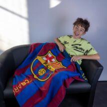 FC Barcelona takaró/pléd 110*140cm