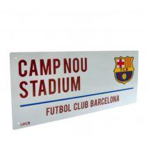 FC Barcelona fém utcanévtábla 40x18cm