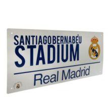 Real Madrid CF fém utcanévtábla 40x18cm