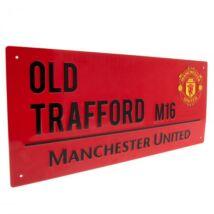 Manchester United FC fém utcanévtábla 40x18cm, RED