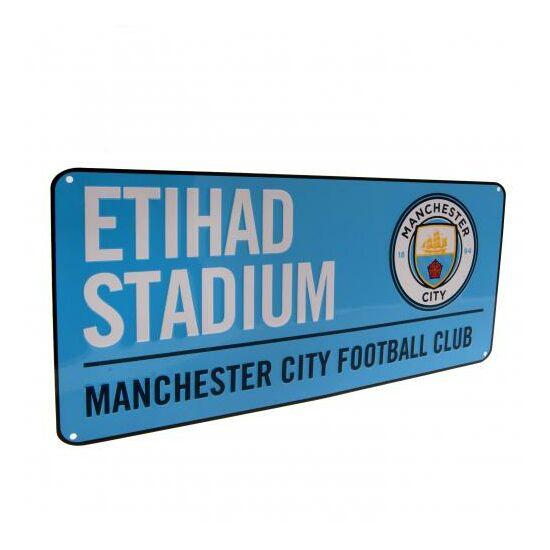 Manchester City FC fém utcanévtábla 40x18cm