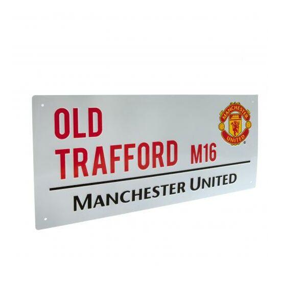 Manchester United FC fém utcanévtábla 40x18cm