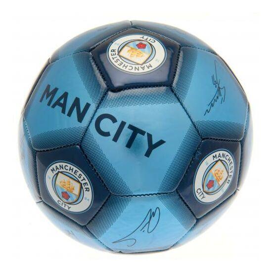 Manchester City FC focilabda, aláírásokkal