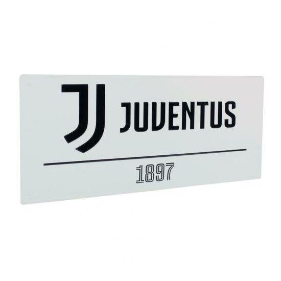 Juventus FC fém utcanévtábla 40x18cm