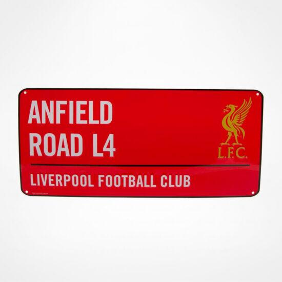 Liverpool FC fém utcanévtábla 40x18cm