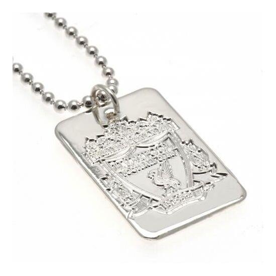 Liverpool FC ezüstözött nyaklánc, dögcédulával