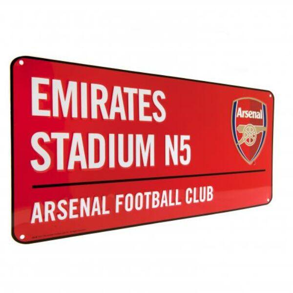 Arsenal FC fém utcanévtábla 40x18cm - Arsenal FC 30d801eed1