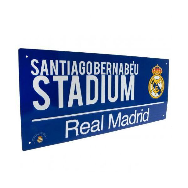 Real Madrid CF fém utcanévtábla 40x18cm - Real Madrid CF 5a9a591427