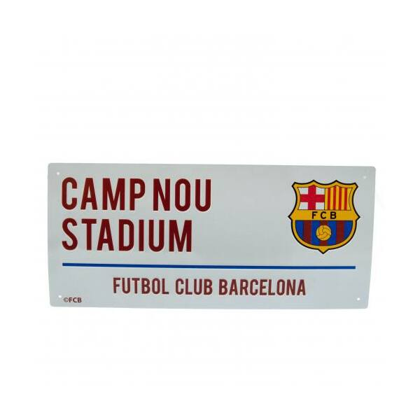 FC Barcelona fém utcanévtábla 40x18cm - FC Barcelona 203d1cc1e7